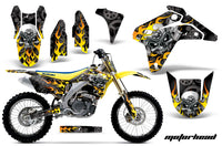 Graphics Kit Decal Sticker Wrap + # Plates For Suzuki RMZ450 2005-2006 MOTORHEAD BLACK