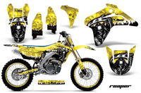 Graphics Kit Decal Sticker Wrap + # Plates For Suzuki RMZ450 2005-2006 REAPER YELLOW