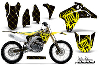 Dirt Bike Graphics Kit Decal Sticker Wrap For Suzuki RMZ450 2005-2006 RELOADED YELLOW BLACK