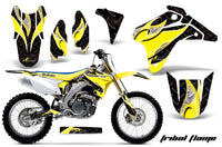 Dirt Bike Graphics Kit Decal Sticker Wrap For Suzuki RMZ450 2005-2006 TRIBAL YELLOW BLACK