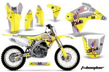 Load image into Gallery viewer, Dirt Bike Graphics Kit Decal Sticker Wrap For Suzuki RMZ450 2005-2006 TBOMBER YELLOW-atv motorcycle utv parts accessories gear helmets jackets gloves pantsAll Terrain Depot