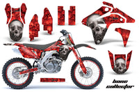 Graphics Kit MX Decal Sticker Wrap + # Plates For Suzuki RMZ450 2007 BONES RED