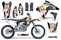 Dirt Bike Graphics Kit MX Decal Sticker Wrap For Suzuki RMZ450 2007 MANDY WHITE BLACK