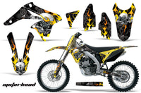Dirt Bike Graphics Kit Decal Sticker Wrap For Suzuki RMZ250 2010-2016 MOTORHEAD BLACK