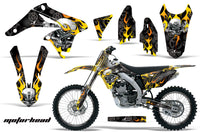 Graphics Kit Decal Sticker Wrap + # Plates For Suzuki RMZ250 2010-2016 MOTORHEAD BLACK