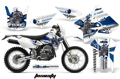 Dirt Bike Graphics Kit Decal Sticker Wrap For Suzuki DRZ400S 2000-2018 TOXIC BLUE WHITE