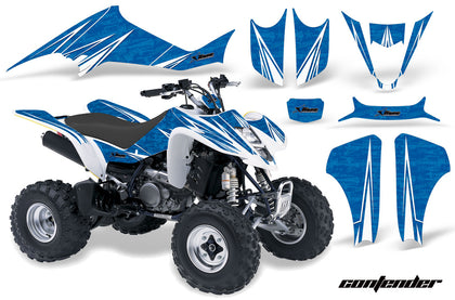 ATV Graphics Kit Decal Sticker Wrap For Suzuki LTZ400 2003-2008 CONTENDER WHITE BLUE
