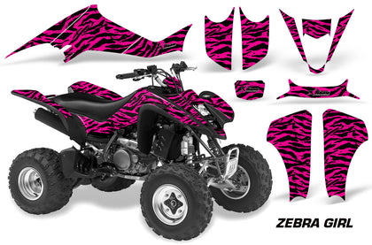 ATV Graphics Kit Decal Sticker Wrap For Suzuki LTZ400 2003-2008 ZEBRA PINK BLACK