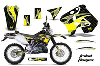 Dirt Bike Graphics Kit Decal Sticker Wrap For Suzuki RMX250S 1996-1998 TRIBAL YELLOW BLACK