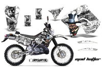 Graphics Kit Decal Sticker Wrap + # Plates For Suzuki RMX250S 1996-1998 HATTER SILVER WHITE