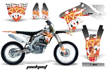 Load image into Gallery viewer, Dirt Bike Decal Graphics Kit Sticker Wrap For Suzuki RMZ450 2008-2017 JACKPOT WHITE-atv motorcycle utv parts accessories gear helmets jackets gloves pantsAll Terrain Depot