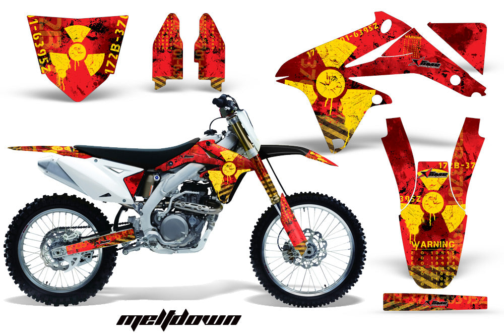 Dirt Bike Decal Graphics Kit Sticker Wrap For Suzuki RMZ450 2008-2017 MELTDOWN RED YELLOW