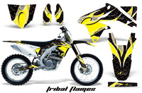 Dirt Bike Decal Graphics Kit Sticker Wrap For Suzuki RMZ450 2008-2017 TRIBAL YELLOW BLACK