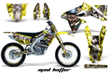 Load image into Gallery viewer, Graphics Kit Decal Sticker Wrap + # Plates For Suzuki RMZ450 2008-2017 HATTER SILVER YELLOW-atv motorcycle utv parts accessories gear helmets jackets gloves pantsAll Terrain Depot
