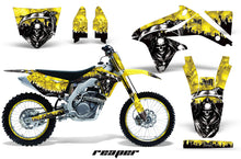 Load image into Gallery viewer, Graphics Kit Decal Sticker Wrap + # Plates For Suzuki RMZ450 2008-2017 REAPER YELLOW-atv motorcycle utv parts accessories gear helmets jackets gloves pantsAll Terrain Depot