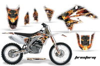 Dirt Bike Graphics Kit Decal Sticker Wrap For Suzuki RMZ250 2007-2009 FIRESTORM WHITE