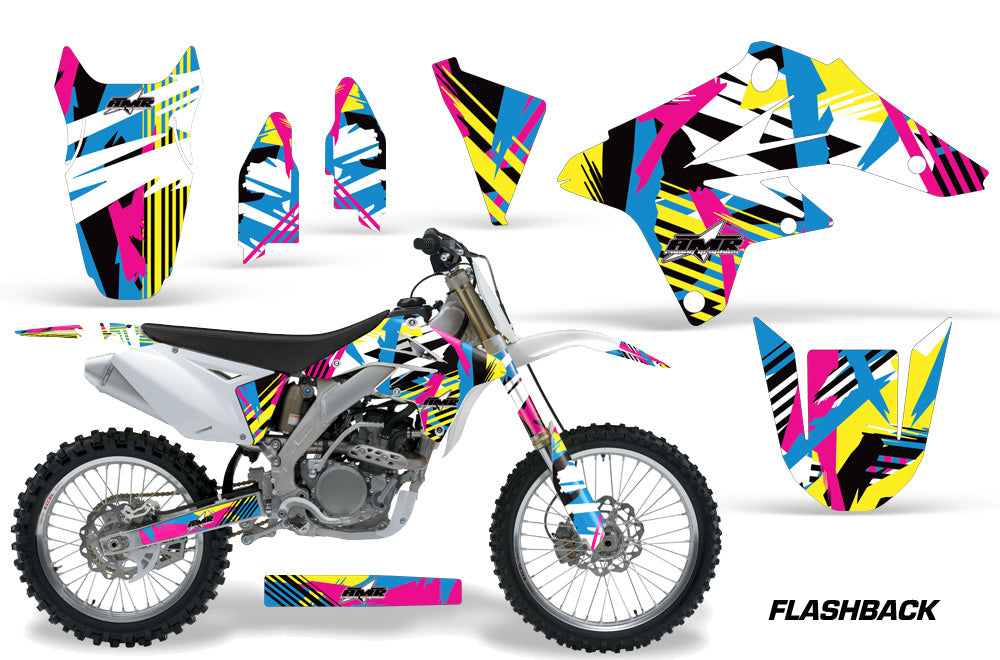 Dirt Bike Graphics Kit Decal Sticker Wrap For Suzuki RMZ250 2007-2009 FLASHBACK-atv motorcycle utv parts accessories gear helmets jackets gloves pantsAll Terrain Depot