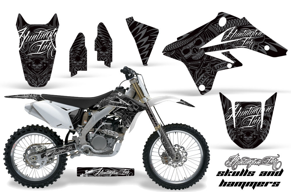Dirt Bike Graphics Kit Decal Sticker Wrap For Suzuki RMZ250 2007-2009 HISH SILVER-atv motorcycle utv parts accessories gear helmets jackets gloves pantsAll Terrain Depot