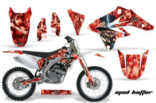 Load image into Gallery viewer, Dirt Bike Graphics Kit Decal Sticker Wrap For Suzuki RMZ250 2007-2009 HATTER RED-atv motorcycle utv parts accessories gear helmets jackets gloves pantsAll Terrain Depot