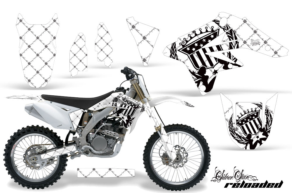 Dirt Bike Graphics Kit Decal Sticker Wrap For Suzuki RMZ250 2007-2009 RELOADED WHITE BLACK-atv motorcycle utv parts accessories gear helmets jackets gloves pantsAll Terrain Depot
