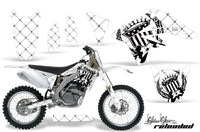 Dirt Bike Graphics Kit Decal Sticker Wrap For Suzuki RMZ250 2007-2009 RELOADED WHITE BLACK