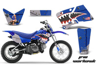 Dirt Bike Graphics Kit Decal Wrap For Yamaha TTR90 TTR90E 2000-2007 WARHAWK BLUE