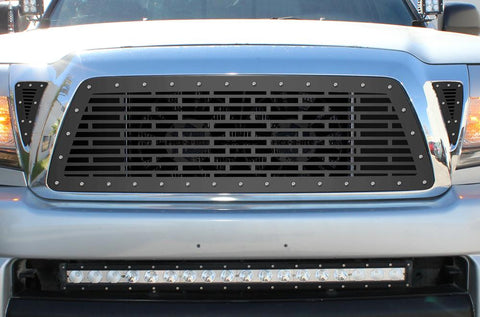 1 Piece Steel Grille for Toyota Tacoma 2005-2011 - CLEAN
