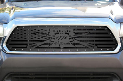 1 Piece Steel Grille for Toyota Tacoma 2012-2015 - LIBERTY OR DEATH