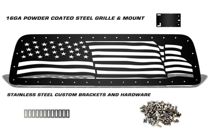 1 Piece Steel Grille for Toyota Tundra 2007-2009 - WAVY AMERICAN FLAG