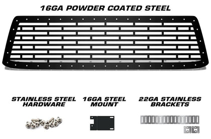 1 Piece Steel Grille for Toyota Tundra 2010-2013 - BRICKS