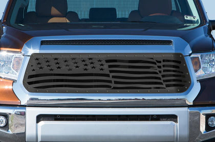 1 Piece Steel Grille for Toyota Tundra 2014-2017 - AMERICAN FLAG WAVE