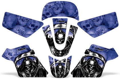 Dirt Bike Graphics Kit MX Decal Wrap For Yamaha PW50 PW 50 1990-2019 REAPER BLUE