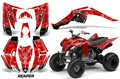 ATV Decal Graphic Kit Quad Sticker Wrap For Yamaha Raptor 350 2004-2014 REAPER RED-atv motorcycle utv parts accessories gear helmets jackets gloves pantsAll Terrain Depot