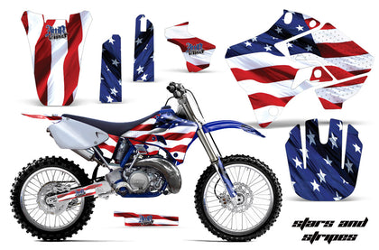 Dirt Bike Graphics Kit Decal Sticker Wrap For Yamaha YZ125 YZ250 1996-2001 USA FLAG
