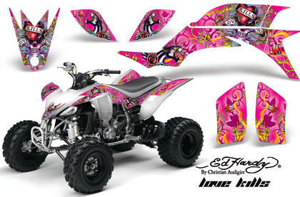 ATV Graphics Kit Quad Decal Sticker Wrap For Yamaha YFZ450 2004-2013 EDHLK PINK-atv motorcycle utv parts accessories gear helmets jackets gloves pantsAll Terrain Depot