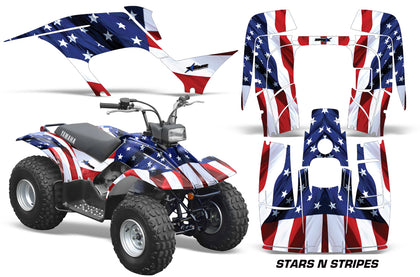 ATV Graphics Kit Quad Sticker Decal Wrap For Yamaha Breeze 125 1989-2004 USA FLAG-atv motorcycle utv parts accessories gear helmets jackets gloves pantsAll Terrain Depot