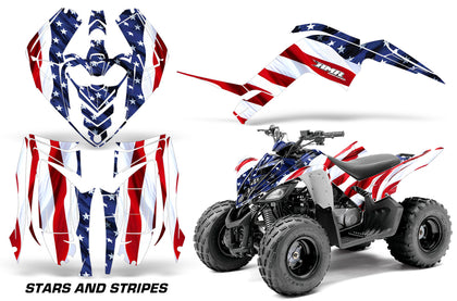 ATV Graphics Kit Decal Sticker Wrap For Yamaha Raptor 90 YFM90 2009-2015 USA FLAG