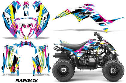 ATV Graphics Kit Decal Sticker Wrap For Yamaha Raptor 90 YFM90 2016-2018 FLASHBACK
