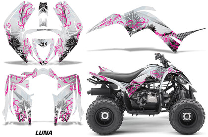 ATV Graphics Kit Decal Sticker Wrap For Yamaha Raptor 90 YFM90 2016-2018 LUNA PINK