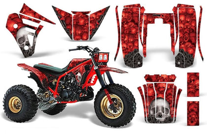 3 Wheeler Graphics Kit Decal Sticker Wrap For Yamaha Tri Z 250 1985-1986 BONES RED