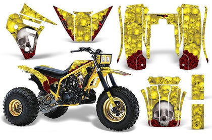 3 Wheeler Graphics Kit Decal Sticker Wrap For Yamaha Tri Z 250 1985-1986 BONES YELLOW