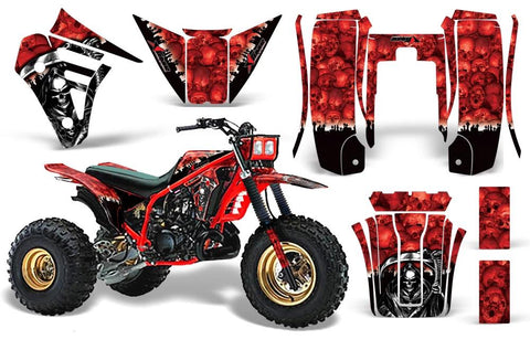 3 Wheeler Graphics Kit Decal Sticker Wrap For Yamaha Tri Z 250 1985-1986 REAPER RED