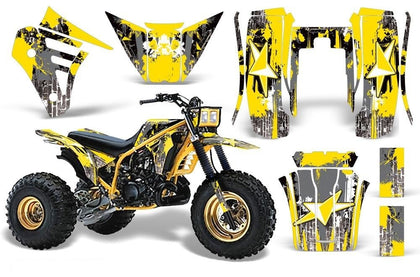 3 Wheeler Graphics Kit Decal Sticker Wrap For Yamaha Tri Z 250 1985-1986 STREET STAR YELLOW