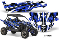 UTV Decal Graphic Kit Side By Side Wrap For Yamaha YXZ 1000R 2015-2018 ATTACK BLUE