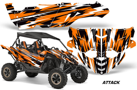 UTV Decal Graphic Kit Side By Side Wrap For Yamaha YXZ 1000R 2015-2018 ATTACK ORANGE