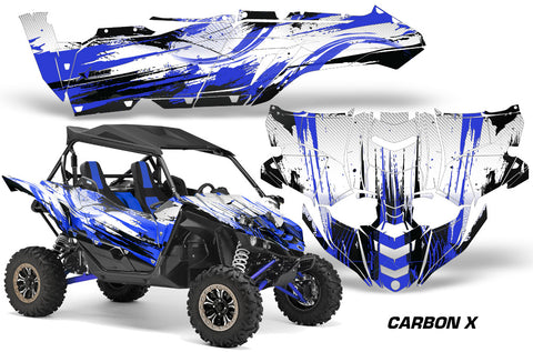 UTV Decal Graphic Kit Side By Side Wrap For Yamaha YXZ 1000R 2015-2018 CARBONX BLUE