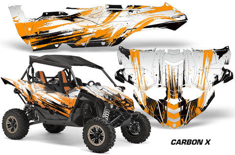 UTV Decal Graphic Kit Side By Side Wrap For Yamaha YXZ 1000R 2015-2018 CARBONX ORANGE