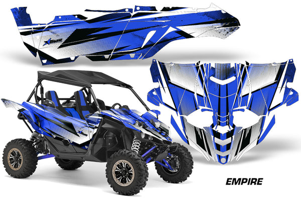 Yamaha Side By Side >> Utv Decal Graphic Kit Side By Side Wrap For Yamaha Yxz 1000r 2015 2018 Empire Blue