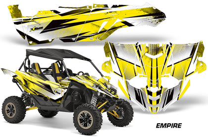UTV Decal Graphic Kit Side By Side Wrap For Yamaha YXZ 1000R 2015-2018 EMPIRE YELLOW