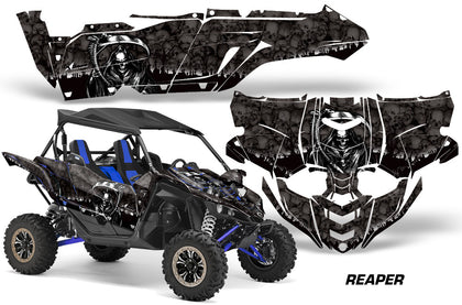 UTV Decal Graphic Kit Side By Side Wrap For Yamaha YXZ 1000R 2015-2018 REAPER BLACK